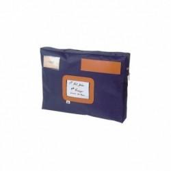 ALBA Pochette navette bleue en PVC à soufflet dimensions : 42x32x5cm