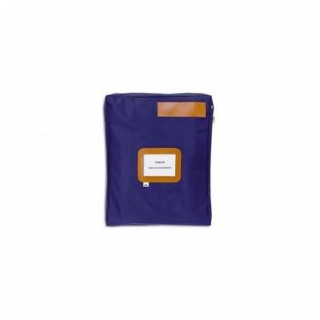 ALBA Pochette navette bleue grand modèle en PVC à soufflets dimensions : 40x50x5cm