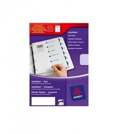 AVERY ZWECKFORM Kit de présentation ''Indexmaker'' 6 touches 05002061