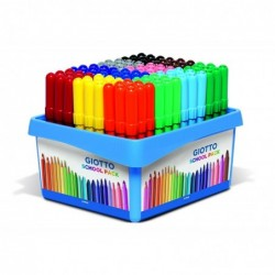 GIOTTO Turbo Maxi Pack de 108 feutres scolaires, couleurs assorties