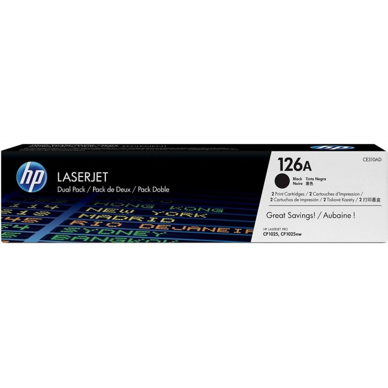 HP Pack de 2 cartouches laser noir CE310AD