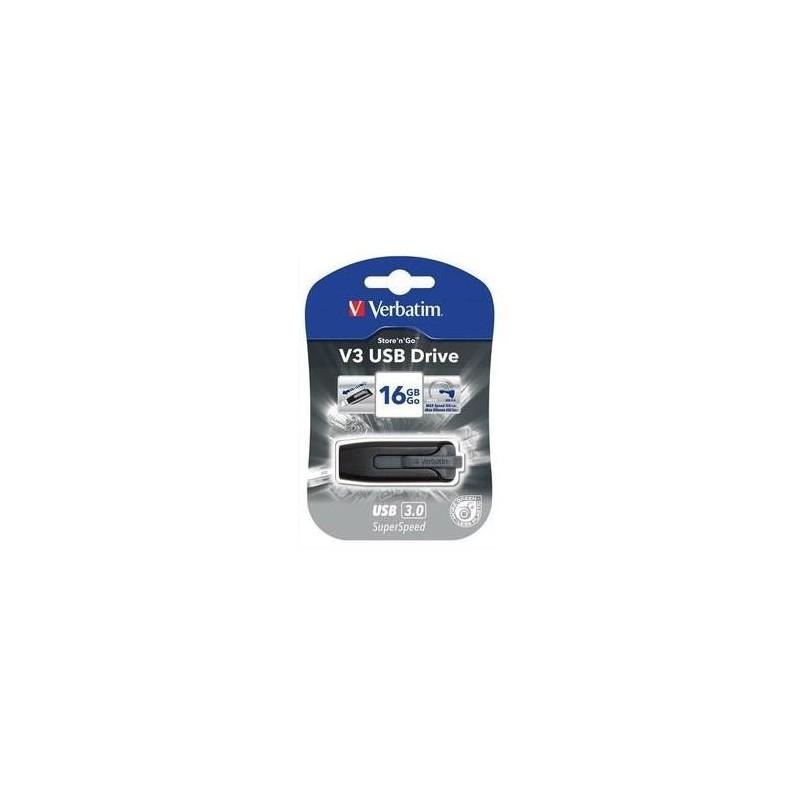 VERBATIM Clé USB 3.0 Store 'n' Go V3 16Go Noir 49172+redevance