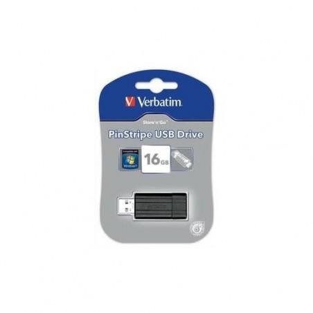 VERBATIM Clé USB 2.0 Store 'n' Go PinStripe 16Go Noir