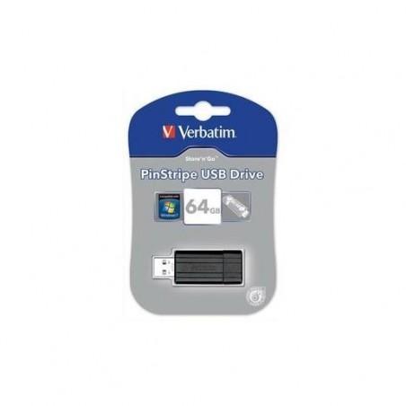 VERBATIM Clé USB 2.0 Store 'n' Go PinStripe 64Go Noir