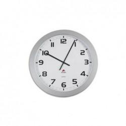 ALBA Horloge murale géante contour ABS D60 cm gris, chiffres noirs lentille en verre à quartz