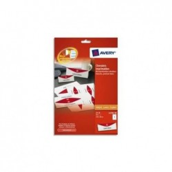 AVERY ZWECKFORM Paquet de 20 chevalets imprimables 190g/m² - format 210 x 60 mm
