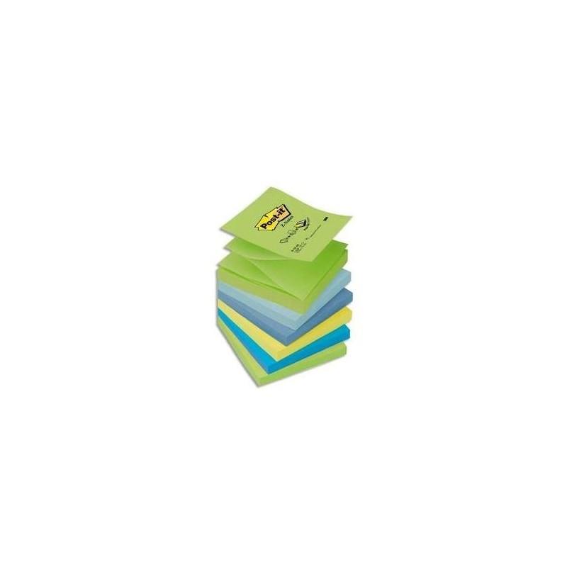 POST-IT Lot de 6 Recharges Z-notes 100 feuilles 7,6 x 7,6 cm coloris rêve