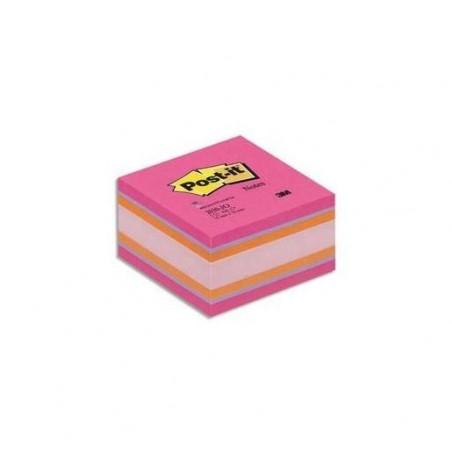 POST-IT Bloc cube PLAISIR Intense 7,6 x 7,6 cm 450 feuilles.