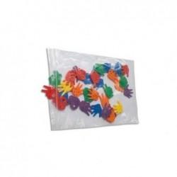 ANTALIS Paquet de 100 sacs fermeture rapide en polyéthylène 50 µm 6 x 8 cm transparent