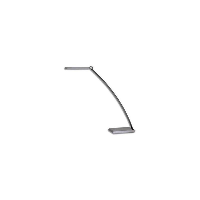 ALBA Lampe à led tactile Ledtouch gris anthracite métal et plastique socle 20x8cm, bras 55cm tête 17x5cm