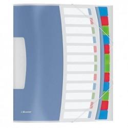 ESSELTE Trieur VIVIDA Polypro 12 touches  multicolores