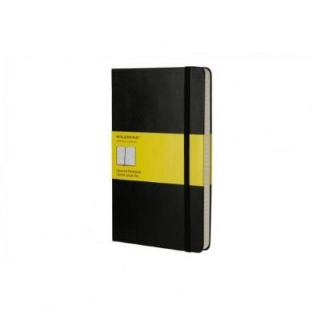 MOLESKINE Carnet de note couverture rigide 13x21cm 240 pages quadrillées 5x5. Coloris noir