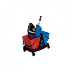 SANI DUO Chariot de lavage Sani Duo, 2 seaux de 18 litres