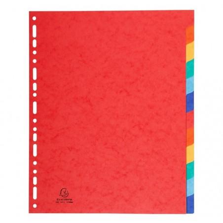 EXACOMPTA Jeu d'intercalaires 12 positions format 24x30cm Maxi Carte lustrée 3/10e