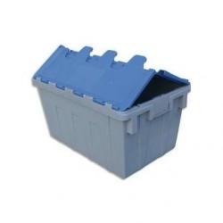 VISO Bac de rangement navette 50L en polypropylène bleu gris L40xH31,2xP60cm