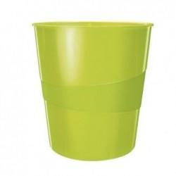 LEITZ Corbeille à papierWow capacité 15L polypropylène D29 x H32,4 cm Vert brillant