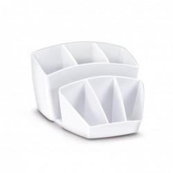 CEP Pro Multipot Gloss 6 compartiments + 2 espace - Dim. L14,3 x H9,3 x P15,8 cm coloris blanc arctique