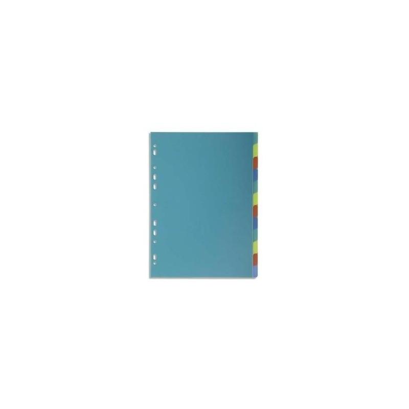 EXACOMPTA Intercalaires A4 12 positions FOREVER en polypropylène assortis
