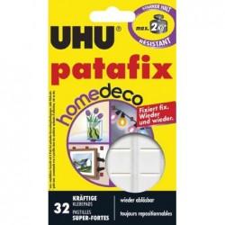 UHU Etui de 32 pastilles blanche Home Déco résistance 2kg
