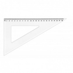JPC Equerre plastique graduée 60° 22 cm