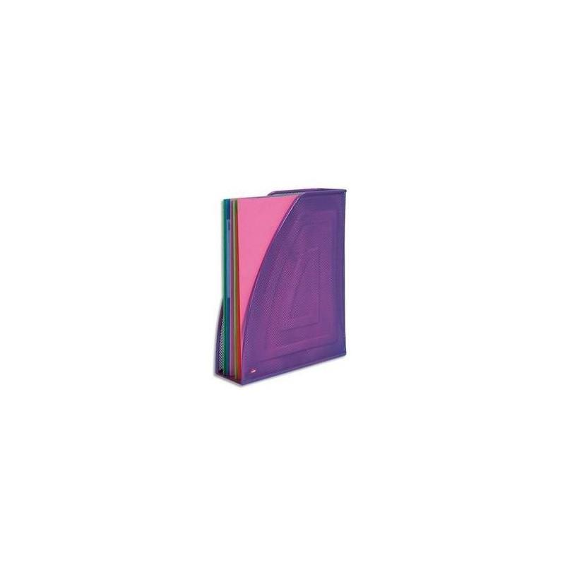 ALBA Porte-revues en métal Mesh - Dimensions : L26 x H33,5 cm, Dos 8cm coloris violet