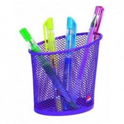 ALBA Pot à crayons en métal Mesh Diam 6 cm H 10,5 cm Violet