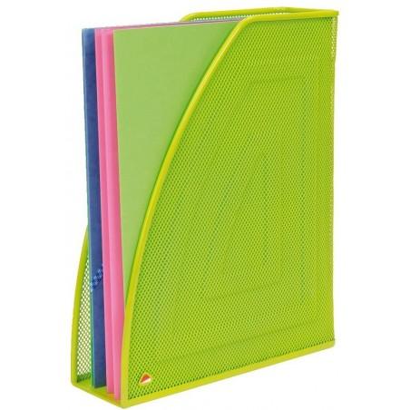 ALBA Porte-revues en métal Mesh - Dimensions : L26 x H33,5 cm, Dos 8cm coloris vert