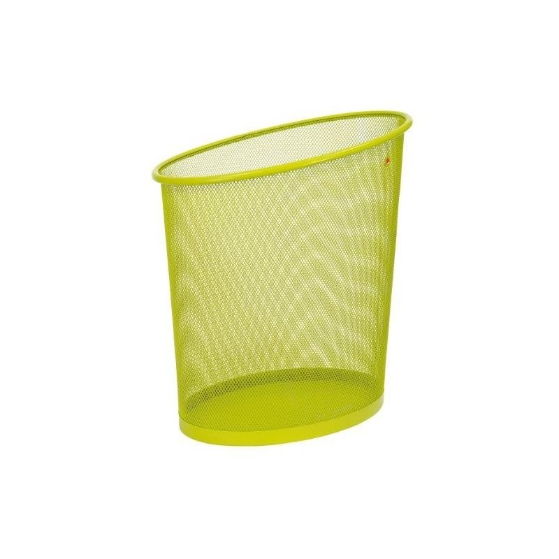 ALBA Corbeille à papier en métal Mesh 18 litres Vert
