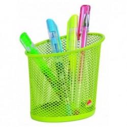 ALBA Pot à crayons en métal Mesh - Diamètre 6, hauteur 10,5 cm coloris vert