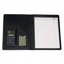 PAVO Conférencier A4 PVC avec calculatrice - Dim L32,5 x H25 x P2,5 cm Noir