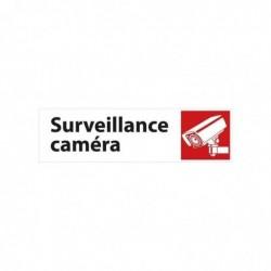 "PAVO Plaque de signalisation auto-adhésive aluminium ""Surveillance caméra"" 17 x H4,5 cm"