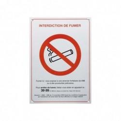 "PAVO Plaque de signalisation rectangulaire ""interdiction de fumer"" L21 x H15"
