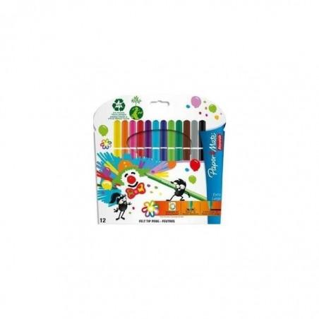 REYNOLDS Pochette de 12 feutres à dessin pointe extra-large encre lavable 097