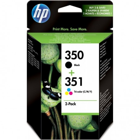 HP Combo pack 350/351 jet d'encre noir et couleur SD412EE