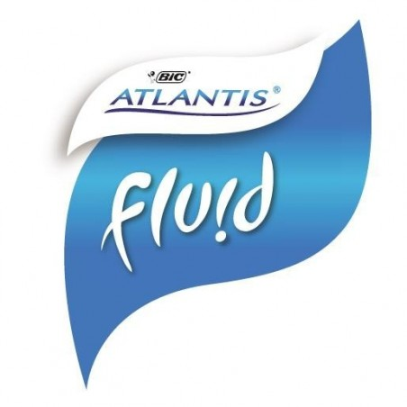 BIC Stylo bille ATLANTIS FLUID Pte Moy. 1,2 mm Rouge