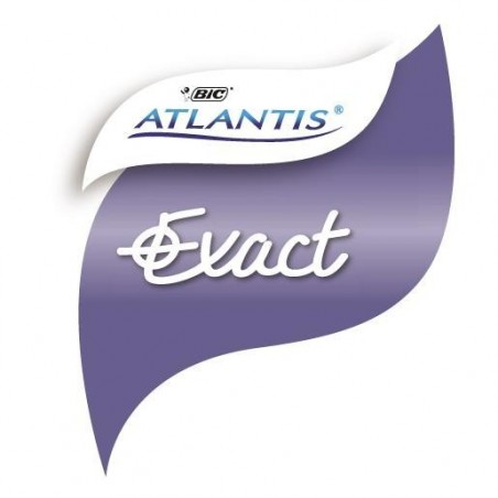 BIC Stylo bille ATLANTIS EXACT Pte aiguille 0,7mm Bleu