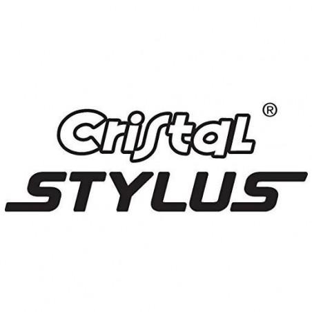 BIC Stylo 2 en 1 : Bille + Stylet CRISTAL STYLUS, Pointe Moyenne. Ø 1mm, Encre Noir
