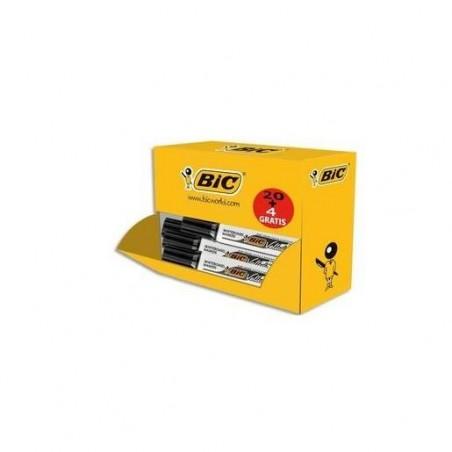 BIC Pack éco de 20+4 marqueurs effaçable à sec VELLEDA 1781, pointe biseautée,Noire