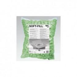 TIDYPAC Sachet de particules de calage 15 litres en polystyrène coloris vert