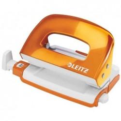 LEITZ Mini perforateur 2 trous WOW orange, en métal, capacité 10 feuilles