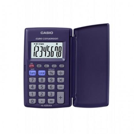 CASIO Calculatrice de poche étui rigide conversion euro 8 chiffres HL820VER