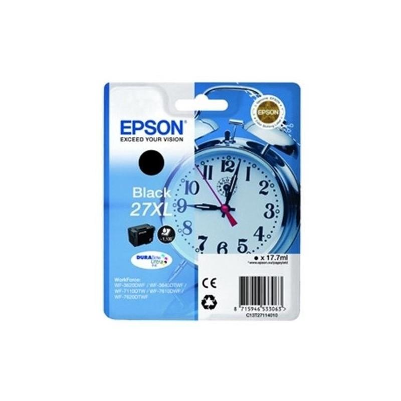 EPSON Cartouche jet d'encre Originale 27XL 17,7 ml Noir