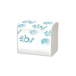 PAPERNET Carton de 40 paquets de papier toilette 2 plis pure cellulose, 224 formats L11 cm coloris blanc