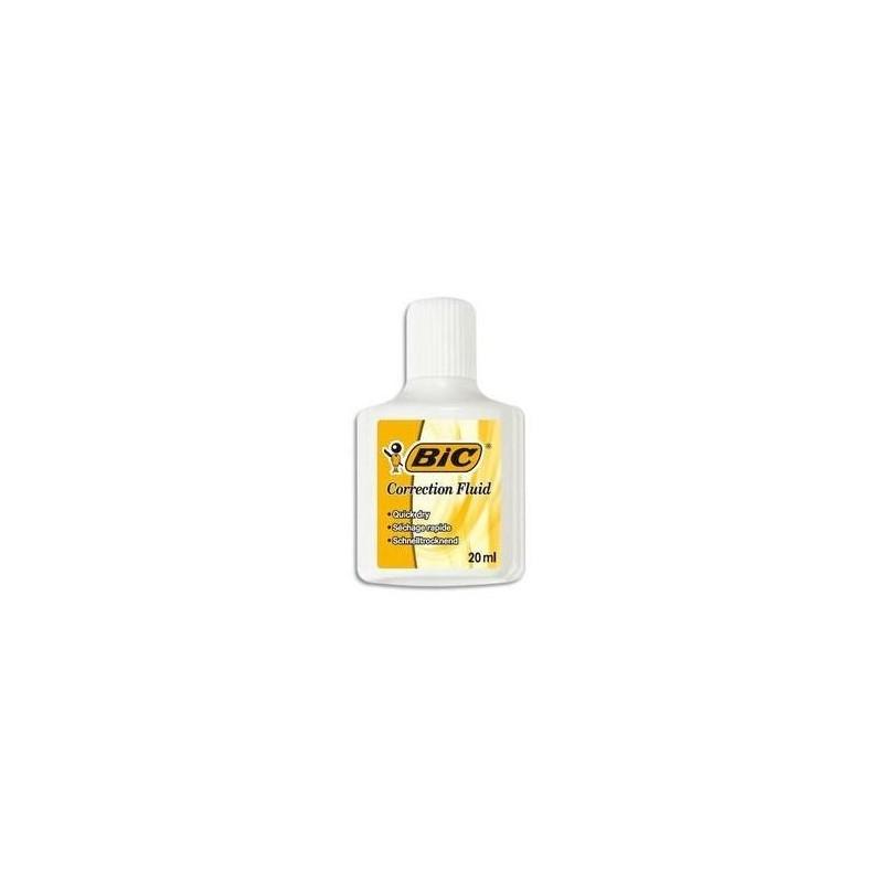 BIC Correcteur fluide avec pinceau flacon de 20 ml CORRECTEUR