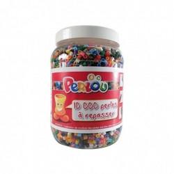 DTM Baril de 10000 perles à repasser PERLOU Assorties