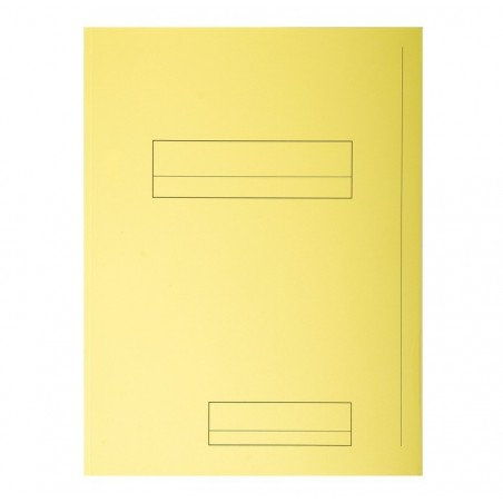 EXACOMPTA Paquet de 50 chemises 2 rabats JURA en carte 240 grammes coloris jaune