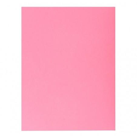 EXACOMPTA Paquet de 50 chemises 1 rabat JURA 250 en carte 240 grammes rose