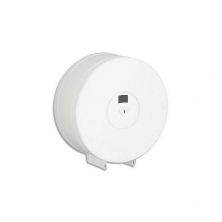 ROSSIGNOL Distributeur de papier hygiénique 400m en métal blanc époxy Diamètre 22 cm