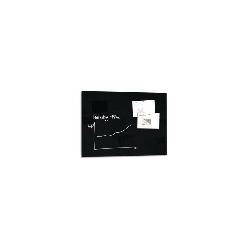 sigel gmbh tableau magn tique verre tremp s curit noir. Black Bedroom Furniture Sets. Home Design Ideas