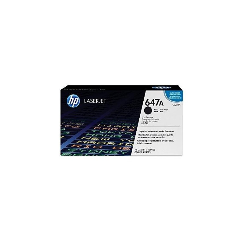 HP Toner laser Original N° 647A CE260A 8500 Pages Noir